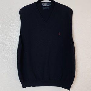 Vtg Ralph Lauren Polo Lambswool Vest Large